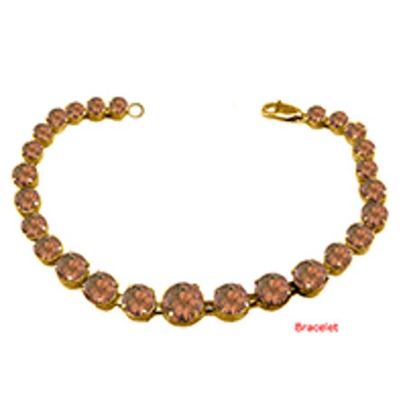June Birthstone Prong Set Smokey Quartz Bracelet 18kt Yellow Gold over Sterling Silver - image 1 of 2