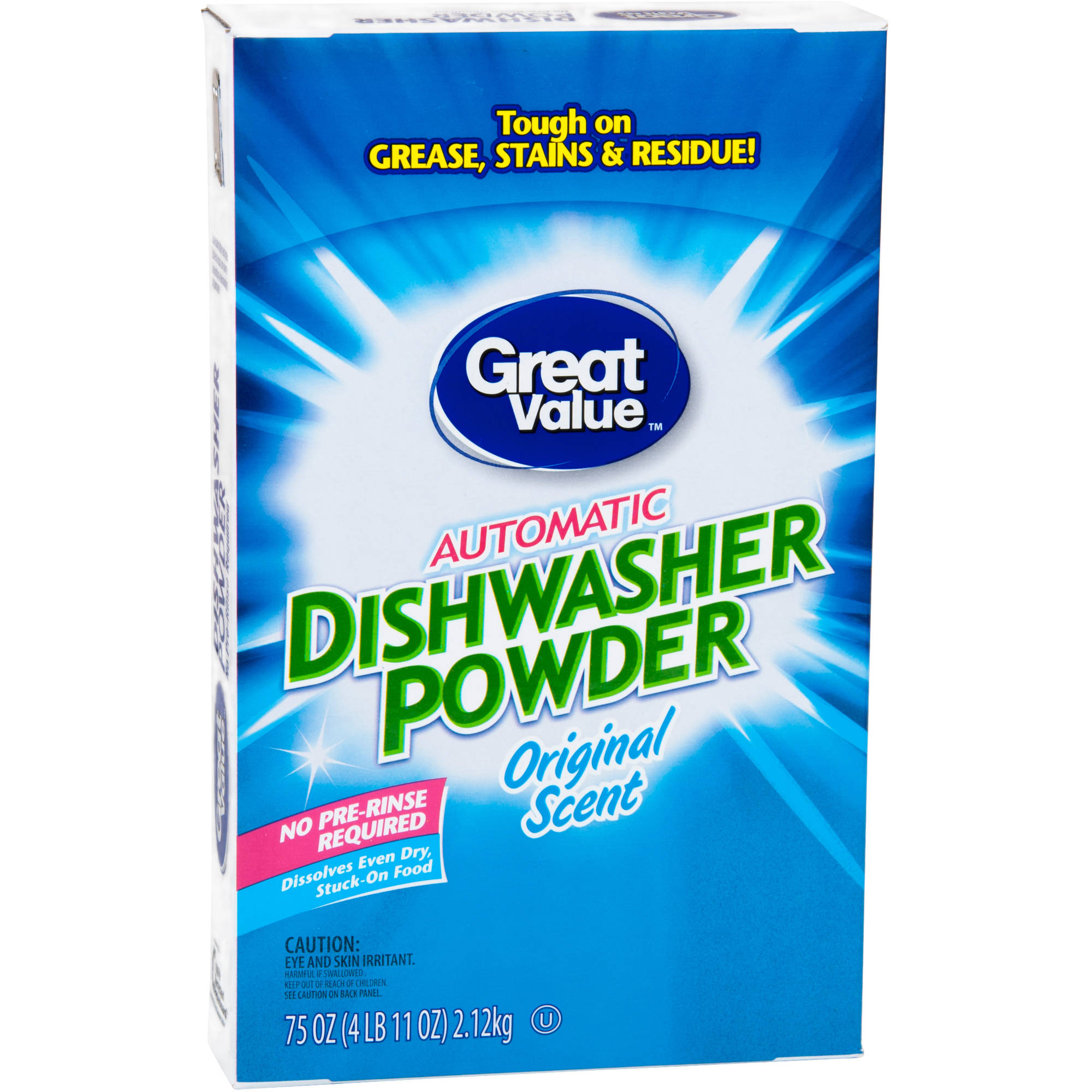 Great Value Dishwashing Detergent, 4.68 Lb