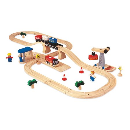 Rail Transportation Set - 48-Piece Road and Rail Transportation Set