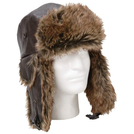 Giovanni Navarre ® Solid Genuine Leather Aviator-style Winter Hat - GFAHAT