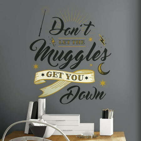 - Harry Potter Muggles Quote Peel And Stick Giant Wall Decals