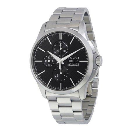a133d20337c Gucci - G-Timeless Chronograph Automatic Black Dial Mens Watch YA126264 -  Walmart.com