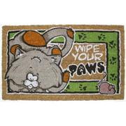 DII Attach Cat Vinyl Back Coir Bleached Doormat