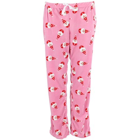 Size Medium Women's Holiday Print Sleep Pajama Pants, Santa (Santa Pajamas For Adults)