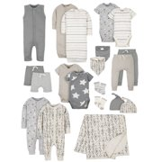 Modern Moments by Gerber Baby Boy Newborn Organic Shower Gift Set, 20-Piece