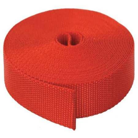 BULK-STRAP N01051R Strap Webbing,51 ft. x 1 In.,3800 lb.