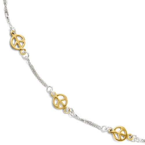 Sterling Silver Gold-Plated Anklet (9-10)