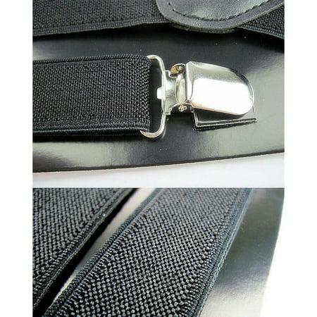 Aofa Unisex Elastic Y-Shape Braces Men\'s Women\'s Adjustable Clip-on Suspenders - image 5 de 7