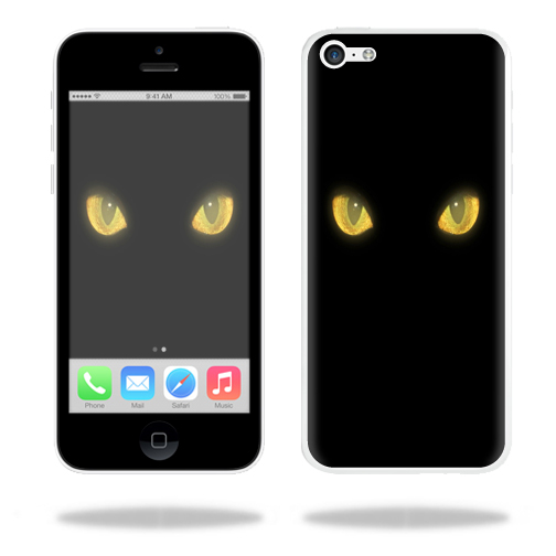 Mightyskins Protective Vinyl Skin Decal Cover for Apple iPhone 5C wrap sticker skins Cat Eyes