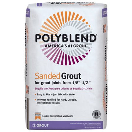 25 Lb Natural Gray Sanded Polyblend Grout
