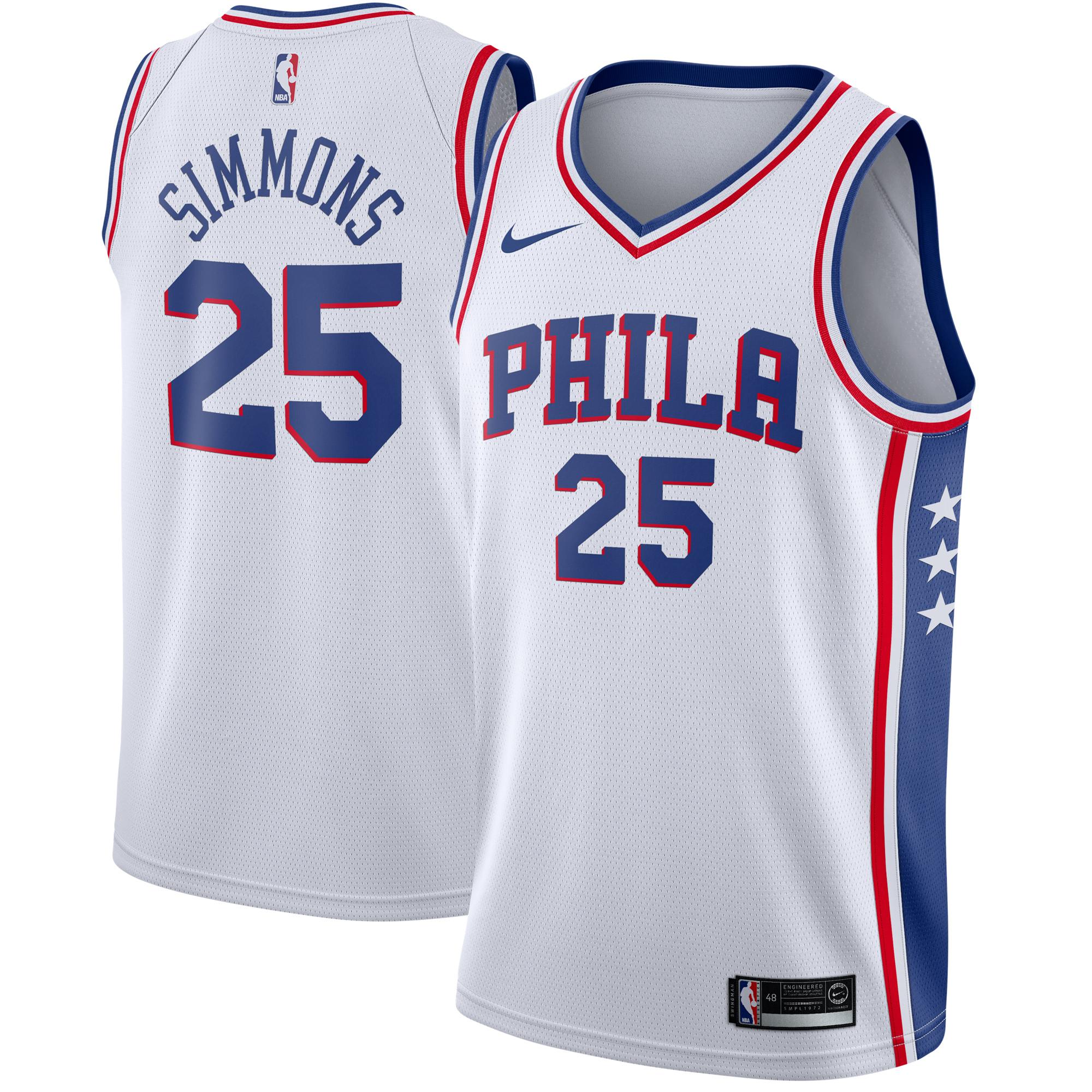 Ben Simmons Philadelphia 76ers Nike Swingman Jersey White - Association Edition