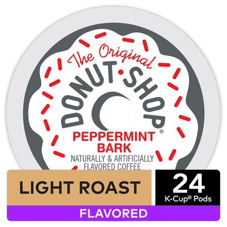 The Original Donut Shop Peppermint Bark Flavored K-Cup Coffee Pods, Light Roast, 24 Count for Keurig Brewers