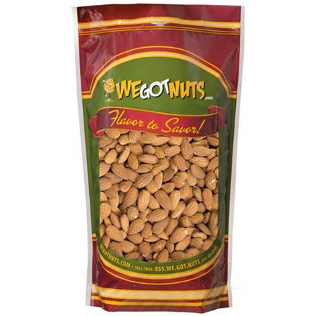 Shell Nut - We Got Nuts Raw Unsalted Shelled Whole Jumbo Almonds, 3 lbs