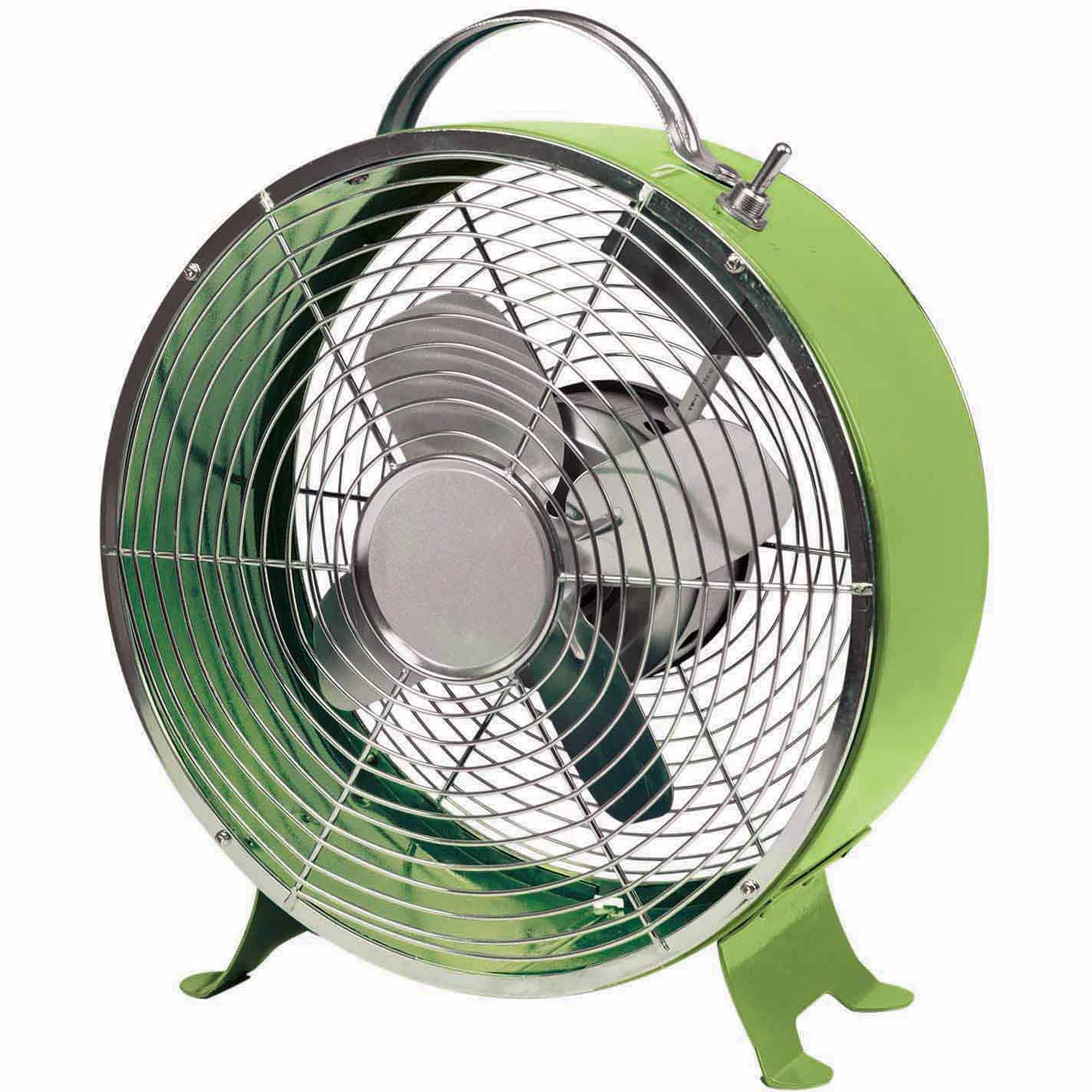 "Comfort Zone 10"" Drum Decorative Metal Fan, Color May Vary"