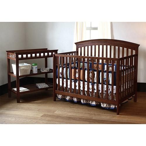 Summer Infant Carolina Fixed-Side Crib and Changing Table Combo, Mocha