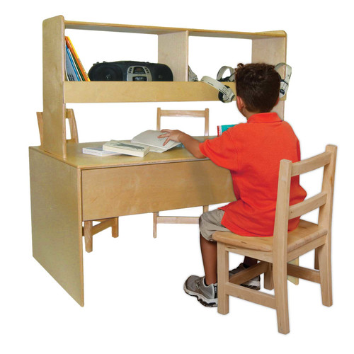 Wood Designs 48'' W Writing Desk with Hutch