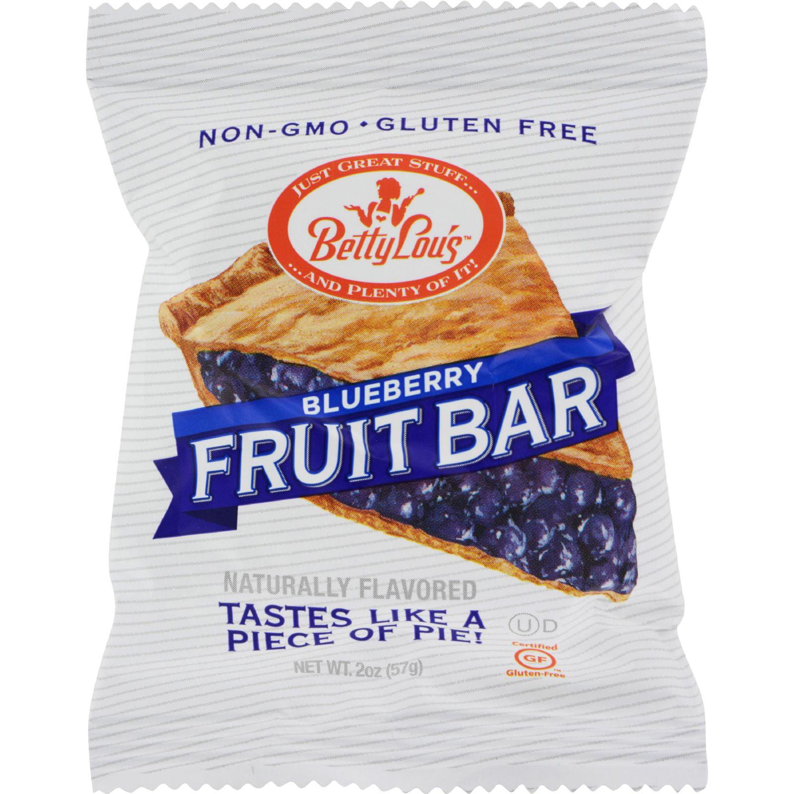 Betty Lou's Gluten Free Fruit Bars Blueberry - 2 oz - Case of 12