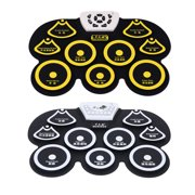 walmeck Silicone Portable Foldable Digital USB Roll-up Electronic Drum Pad Kit with Stick and Foot Pedal
