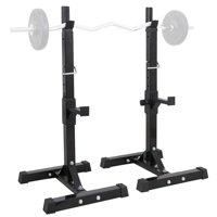 HERCHR Adjustable Barbell Stand Multifunction Squat Rack Home Gym Weight Lifting Press