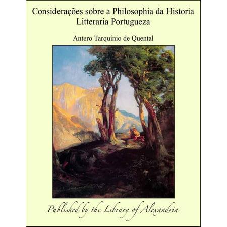 Considerações sobre a Philosophia da Historia Litteraria Portugueza - eBook - Historia Sobre Halloween