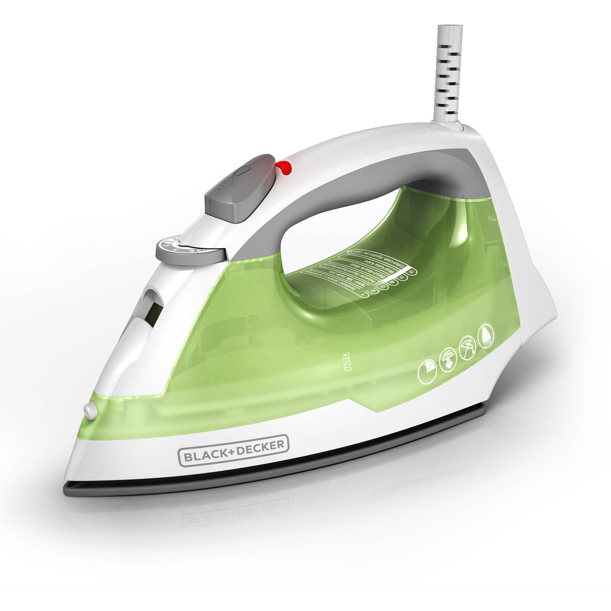 BLACK+DECKER Easy Steam Compact Clothing Iron, Green Steam Iron IR02V