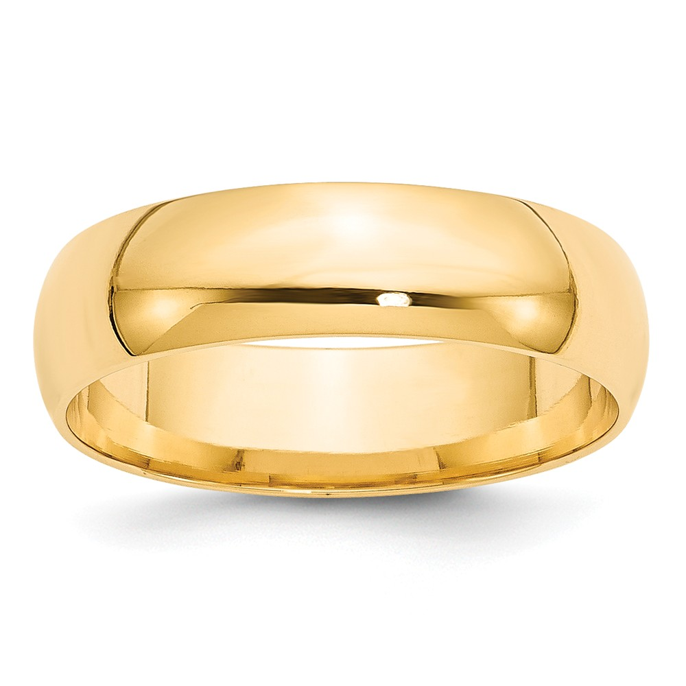 ICE CARATS 14kt Yellow Gold 6mm Ltw Comfort Fit Wedding Ring Band Size 6.5 Classic Fine Jewelry Ideal Gifts For Women Gift Set From Heart