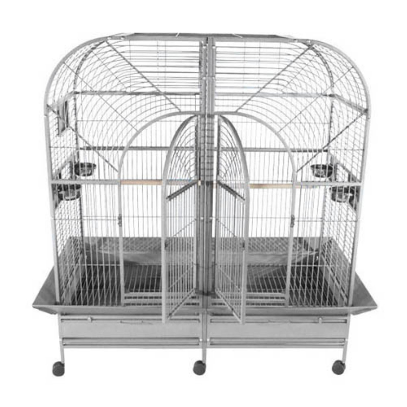 A and E Cage Co. Stainless Steel Double Macaw Bird Cage
