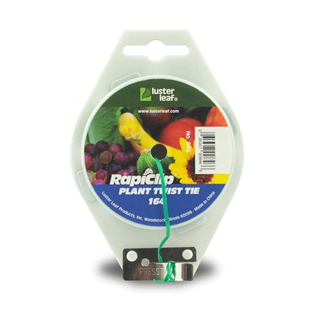 Rapiclip Extra Long Garden Plant Twist Tie - approx 164 ft. #846, approx. 164 foot spool By Luster (Reelenz Plant Support Spools)