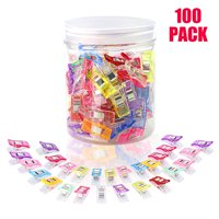 Quilting Supplies of 100pcs Sewing Clips Multipurpose Wonder Clips with Storage Box Assorted Colors (10Large+90Samll)