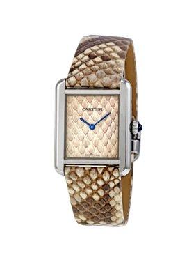 Cartier Tank Solo Python Pattern Dial Quartz Ladies Watch W5200020