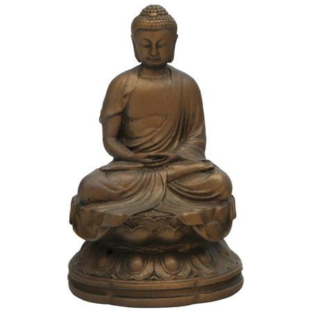 Meditating Buddha Statue, Bronze Finish, 4.5 Inches Buddha Bronze Finish