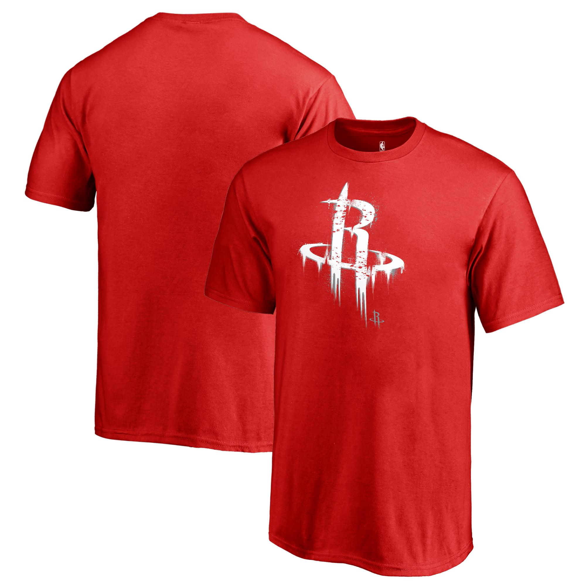 Houston Rockets Fanatics Branded Youth Splatter Logo T-Shirt - Red