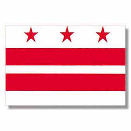District of Columbia Flag, 3' x 5', Nylon SolarGuard Nyl-Glo, Model# Model# 146460
