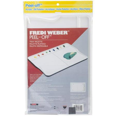 Mijello Fredi Weber Peel Tray, 12.75 x 9-Inch, Off Palette, Martin Universal-Mijello Fredi Weber Peel Off Palette Tray: Acrylic & Oil By Martin Universal
