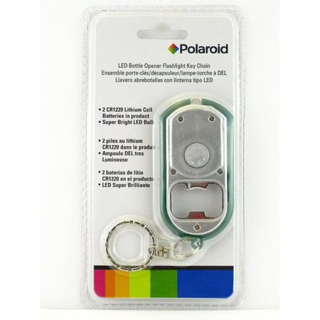 polaroid bottle opener keychain with built-in led flashlight