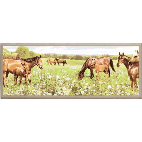 Illumalite Designs Peaceful Horses Painting Print on Plaque