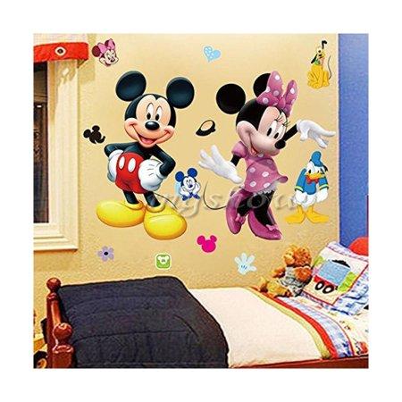Minnie Mouse Room Decor Walmart.Mickey Minnie Mouse Kids Room Decor Disney Wall Sticker Cartoon
