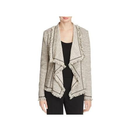 - Lafayette 148 New York Womens Eugena Tweed Fringe Jacket