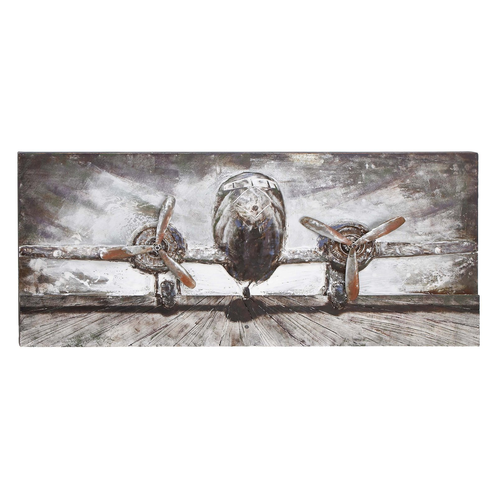 Woodland Imports Airplane Wall Artwork 59W x 28H in. by Benzara Inc