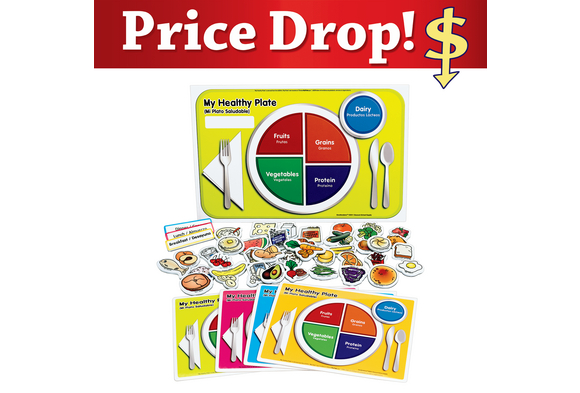 Excellerations My Healthy Plate Magnet Activity Set (Item # USDAMag) by
