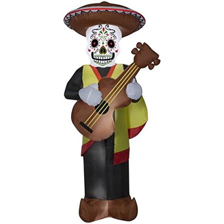 7' Airblown Day of the Dead Man Halloween Inflatable for $<!---->