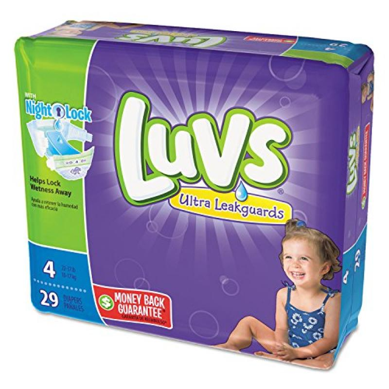 Procter & Gamble Diapers, Size 4: 22 to 37 lbs, 29/Pack, ...
