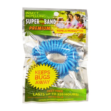 Evergreen Superband Premium 250Hr Non-Toxic Mosquito Repelling - Neon Yellow Wristbands