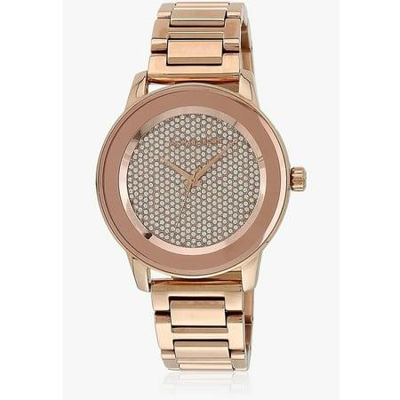 Michael Kors - Michael Kors Women s MK6210  Kinley  Crystal Rose-Tone  Stainless Steel Watch - Walmart.com ba11a779a42