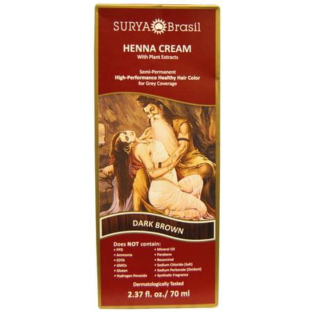 Henna Dark Brown Cream Surya Nature, Inc 2.31 oz