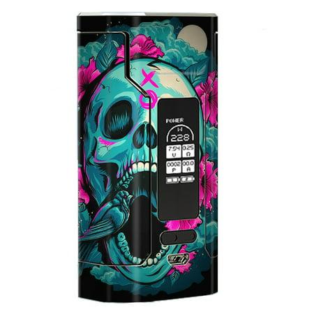 Skin Decal Vinyl Wrap For Wismec Predator 228 Vape Mod Stickers Skins Cover/ Skull Dia De Los Muertos Design