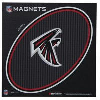 """Atlanta Falcons Carbon 6"""" x 6"""" Oval Full Color Magnet"""