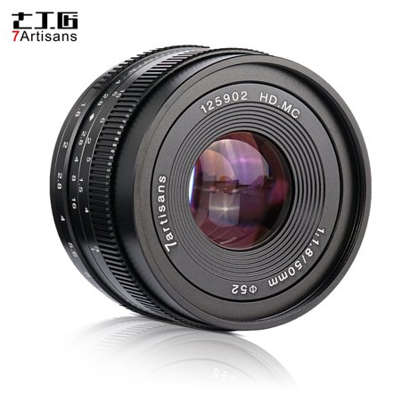 7artisans 50mm F1.8 Manual Focus Camera Lens Large Aperture for Sony A7/A7II/A7R/A7RII/A7S/A7SII/A6500/A6300 E-Mount Mirrorless