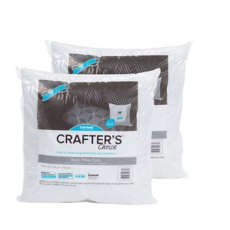 "Fairfield Crafter's Choice 18""x18"" Pillow Insert (Pack of 2)"