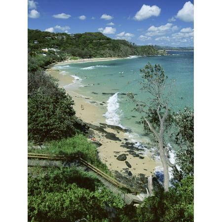 Byron Bay Surf - Watego and Beach, Surf Brake Between Byron Bay and Cape Byron, New South Wales (Nsw), Australia Print Wall Art By Robert Francis